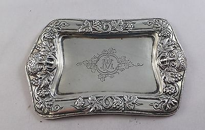 Continental Antique Sterling Silver Pin / Trinket Tray Circa 1900