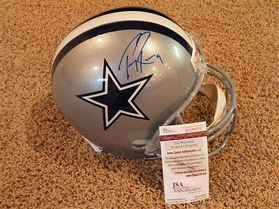 Tony Romo Signed Auto Dallas Cowboys Full Size Helmet Jsa Autographed