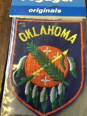 Oklahoma Vintage Voyager Emblem State Patch - Made In USA NIP