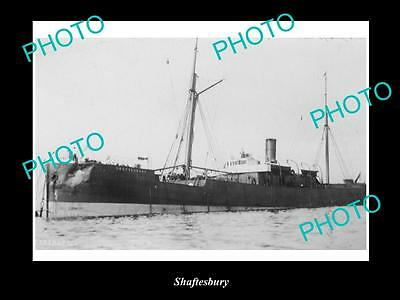 OLD LARGE HISTORIC MERCHANT SHIP PHOTO OF THE STEAMSHIP SS SHAFTESBURY c1920s
