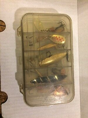 LURE BOX + Selection Of SPEY MINNOWS MEPPS  & TOBY's