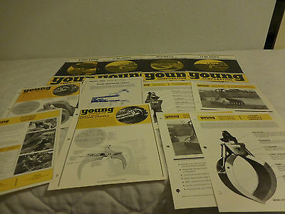 (20) 1970's YOUNG LOGGING & TRACTOR EQUIPMENT SALES BROCHURE LOT