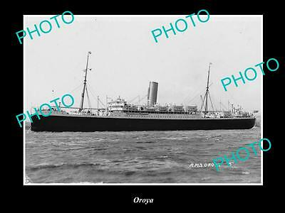 OLD LARGE HISTORIC MERCHANT SHIP PHOTO OF THE STEAMSHIP SS OROYA c1920s