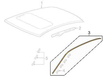 HONDA ACCORD COUPE OEM-Roof Molding
