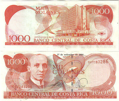 Costa Rica 1000 Colones 2004 Pick 264E Unc