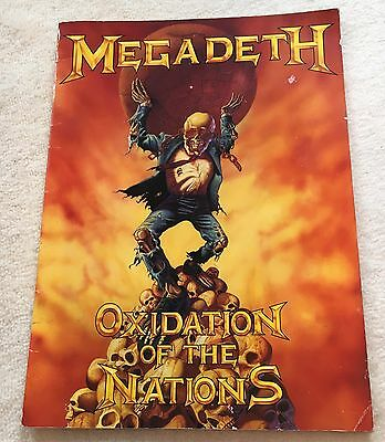 Megadeth Oxidation Of The Nations World Tour Programme