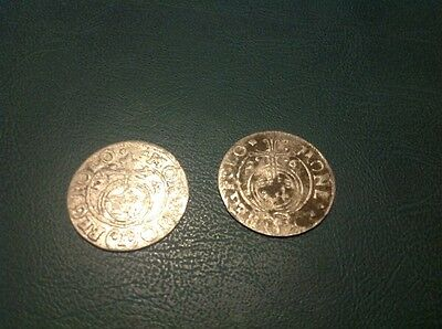 2x Silver Hammered Coin 1/24 Thaler 1623 and 1626 #5