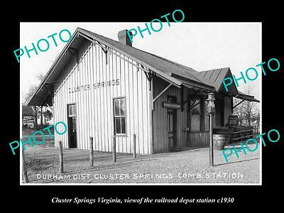 Old Large Historic Photo Of Cluster Springs Virginia Railroad Depot Station 1930