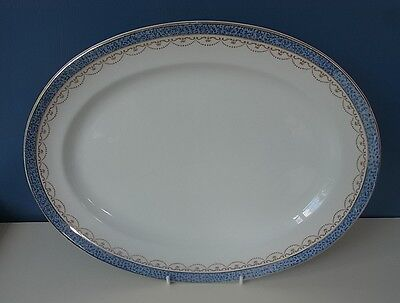 """LOSOL WARE - KEELING & CO - OVAL SERVING PLATE """"#5226"""" - 14"""" x11"""", 1920's, VGC"""