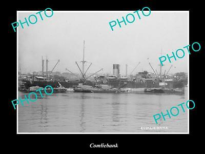 OLD LARGE HISTORIC MERCHANT SHIP PHOTO OF THE STEAMSHIP SS COMLIEBANK c1920s