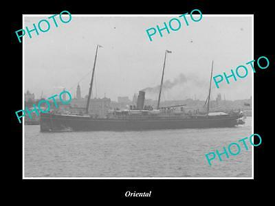 OLD LARGE HISTORIC MERCHANT SHIP PHOTO OF THE STEAMSHIP SS ORIENTAL c1920s