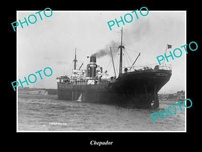 OLD LARGE HISTORIC MERCHANT SHIP PHOTO OF THE STEAMSHIP SS CHEPADOR c1920s