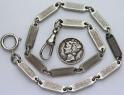 Pocket Chain Civil War Style Steel Tag Link 12 Inches Long USA