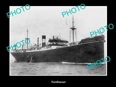 OLD LARGE HISTORIC MERCHANT SHIP PHOTO OF THE STEAMSHIP SS NORTHMOOR c1920s