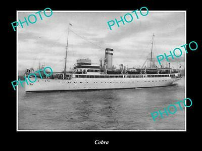 OLD LARGE HISTORIC MERCHANT SHIP PHOTO OF THE STEAMSHIP SS COBRA c1920s