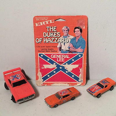 Dukes Hazzard General Lee Dixie Challenger Hot Wheels Ertl Die Cast Toy Car Lot