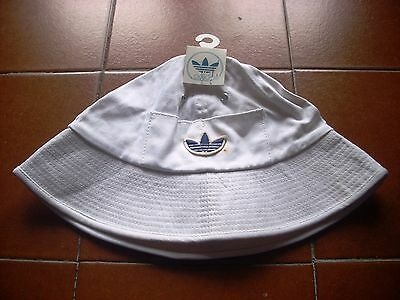 """Deadstock Rare Adidas Trifoil Bucket Hat 70 Casuals 80 Germany Cotton S 21"""" Bnwt"""