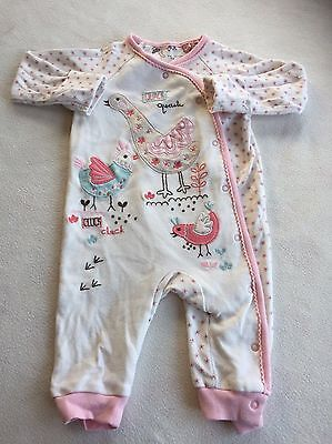 Baby Girls Clothes 3-6  Months- Cute  Babygrow Romper