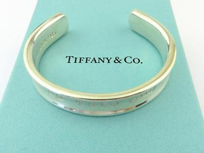 Authentic TIFFANY & CO Sterling Silver 1837 Cuff Bangle Bracelet