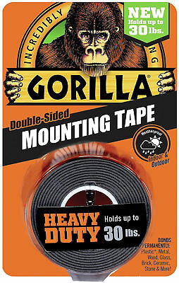 "Gorilla Mounting Tape Heavy Duty Indoor Outdoor Up To 30 lbs 1"" x 60"""