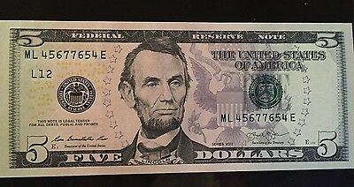 Five Dollar Repeater Bill-EXCELLENT CONDITION