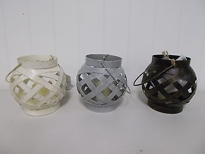 GER42985 EVERLASTING GLOW round metal LANTERN WITH RESIN LED CANDLE  5 HR TIME