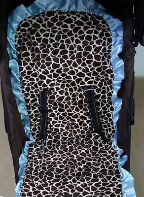 Baby Pram Stroller Giraffe Liner with Matching Car Strap Covers