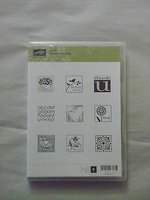 Stampin Up - Cute by the Inch - 120130 - 9 Rubber Stamps - Unmounted - Used