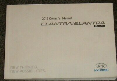 Great 2013 Hyundai Elantra Coupe Owners Manual