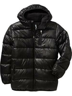 NEW OLD NAVY Boys Frost Free Jacket SIZE SMALL 6/7 AGE BLACK WINTER COAT NWT
