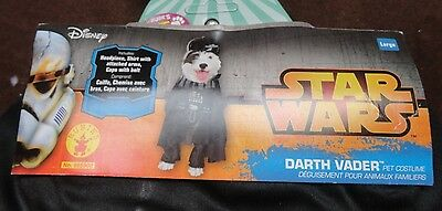NEW Disney Darth Vader Pet Dog Costume Star Wars Halloween Large Rogue One Shirt