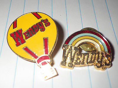 Wendy's Fast Food Balloon Pin Wendys Rainbow Pin Wendys Employee Pin
