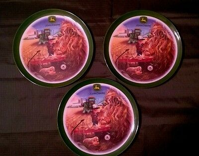 Gibson Everyday China John Deere   set of 3 plates 8 inch