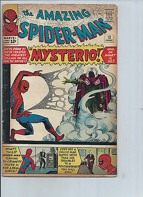 Amazing Spider-Man #13 1st Appearance of Mysterio (VG/F)