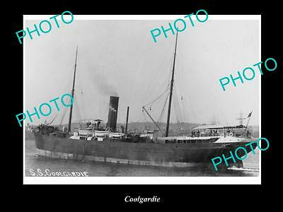 OLD LARGE HISTORIC MERCHANT SHIP PHOTO OF THE STEAMSHIP SS COOLGARDIE c1920s
