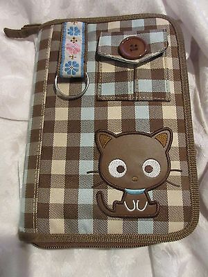Vintage 1996/2009 Brown Chococat Plaid Day Planner Hello Kitty EUC