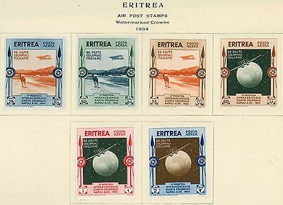 1934 ERITREA Air Post Stamps #C1-C6  (6) All MINT, VF, H