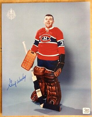 GUMP WORSLEY Signed/Autographed  Montreal Canadiens Official NHL Hockey Photos