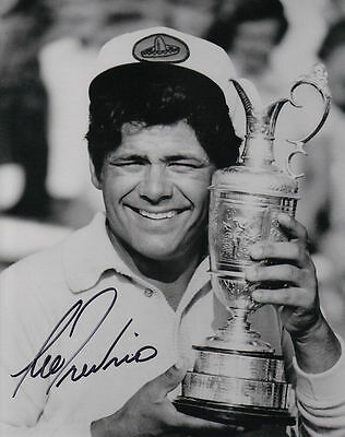 LEE TREVINO Signed/Autographed 8x10 B&W British Open Golf Photo with COA