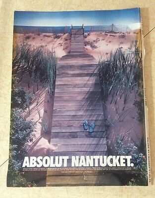 Absolute Vodka Absolut Nantucket Magazine Ad 1999 Cape Cod Life