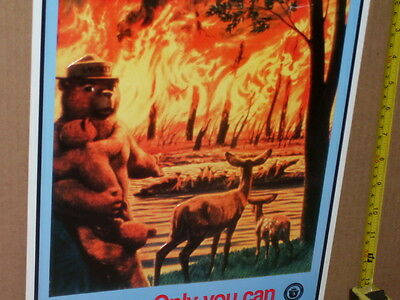 SMOKEY BEAR --- Only You Can Prevent FOREST FIRES --- Sign         WOW