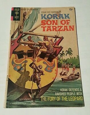 Korak Son Of Tarzan # 45 gold key last issue
