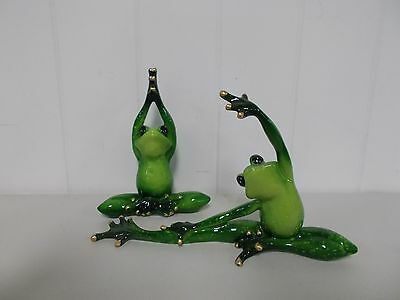 G61157/60 Pair Of Yoga Frogs Decoration Figurine Gsc