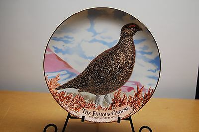 """ The Famous Grouse""  Scotch Whiskey 10"" Commemorative Plate"