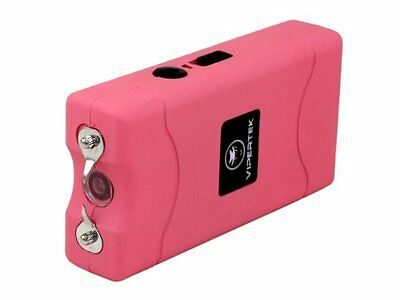 VIPERTEK PINK Mini Stun Gun VTS-880 10 BV Rechargeable LED Flashlight