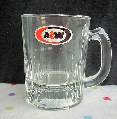 """A&W Child's """"Baby Root Beer"""" Glass Mug 3"""" tall"""