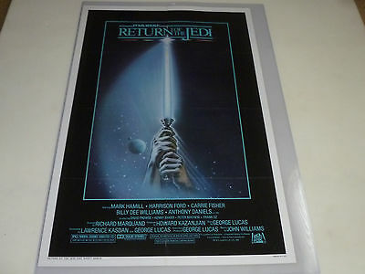 Original Folded Star Wars Return Of Jedi Light Saber Poster 1983 Vintage Rotj