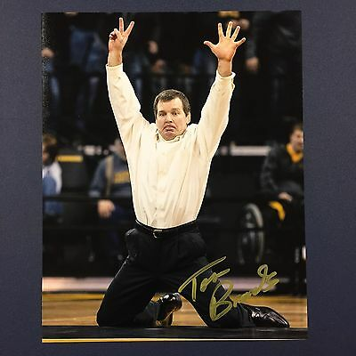 TOM BRANDS Signed 8x10 Photo IOWA HAWKEYES WRESTLING HEAD COACH AUTOGRAPHED RARE
