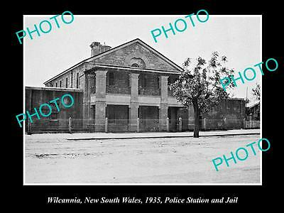 Old Large Historical Photo Of Wilcannia Nsw, View Of Police Station & Jail 1935