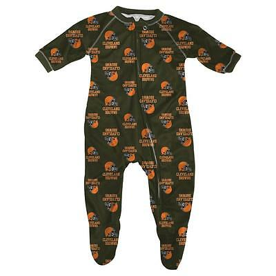 Cleveland Browns Baby Infant Pajamas Onesie Coverall (FREE SHIPPING) 3-6 months